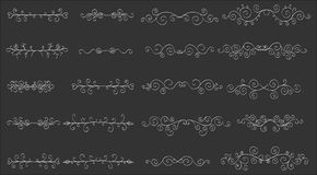 Set of horizontal hand-drawn patterned banners vector illustration