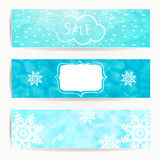 Set of horizontal holidays christmas banners with Stock Images