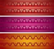 Set of horizontal Indian banners Royalty Free Stock Photos