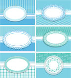 Set of horizontal invitation cards Stock Image