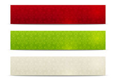 Set of horizontal knitted banners 500 x 100 Royalty Free Stock Images