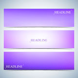 Set of horizontal multicolored backgrounds for your design. Vector Illustration Royalty Free Stock Images