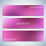 Set of horizontal multicolored backgrounds for your design. Vector Illustration Stock Photo