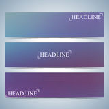 Set of horizontal multicolored backgrounds for your design. Vector Illustration Royalty Free Stock Image