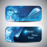 Set of Horizontal New Year Banners - 2016 Stock Image