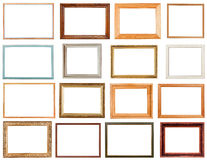 Set of horizontal picture frames Royalty Free Stock Photography