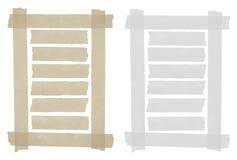 Set of horizontal sticky tape,adhesive pieces Stock Photos