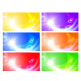 Set of horizontal sunny banners Stock Photo