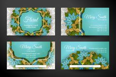Set of HorizontalBusiness Cards, Corporate Identity Elements Royalty Free Stock Photos