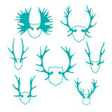 Set horns silhouettes for design Royalty Free Stock Image