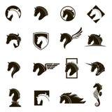 Set of horse icons Royalty Free Stock Image