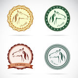 Set of  horse label Stock Photos