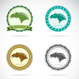 Set of  horse label Royalty Free Stock Images