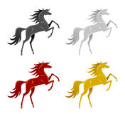 Set of horse Royalty Free Stock Photography