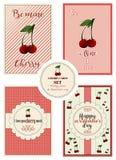 Set horyzontalne karty dla stValentine ` s dnia z powitaniami royalty ilustracja