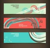 Set horyzontalni sztandary, chodnikowowie. Editable desig ilustracja wektor