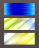Set horyzontalny sztandaru chodnikowiec website33 royalty ilustracja