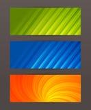 Set horyzontalny sztandaru chodnikowiec website6 royalty ilustracja
