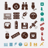 Set of hosting icons Royalty Free Stock Photography