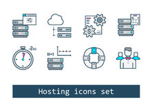 Set of Hosting Icons Stock Image