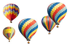 A Set of Hot Air Balloons on White Royalty Free Stock Images