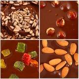 Set of  hot chocolate Stock Image