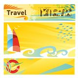 Set of hot travel banners Stock Images