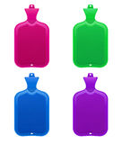 Set of hot-water bottles Stock Images