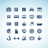 Set of hotel icons. Set of  vector hotel icons Royalty Free Stock Images