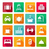 Set of hotel icons Royalty Free Stock Photography