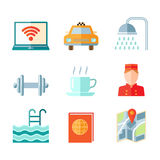 Set of hotel icons Royalty Free Stock Photos