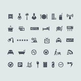 Set of hotel icons Royalty Free Stock Image