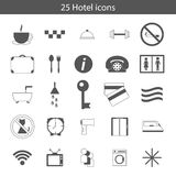 Set of hotel icons Stock Photography