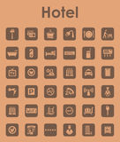 Set of hotel simple icons Stock Photos