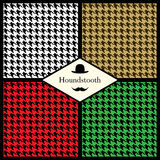 Set of houndstooth check patterns Royalty Free Stock Image