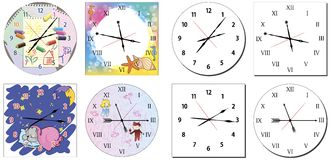 Set of hours Stock Images