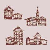Set house1 royalty ilustracja