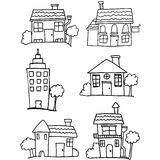 Set of house hand draw Royalty Free Stock Images
