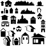 Set house icon Royalty Free Stock Images