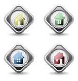 Set of house icon Royalty Free Stock Photos