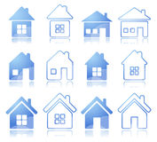 Set of house icon Stock Photography
