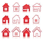 Set of house icon Royalty Free Stock Images