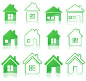 Set of house icon Royalty Free Stock Photography