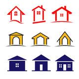 Set of 9 house icon Royalty Free Stock Photos