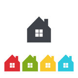 Set of house icon vector Royalty Free Stock Photo