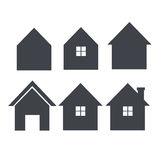 Set of house icon vector Royalty Free Stock Images
