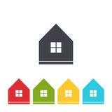 Set of house icon vector Stock Images