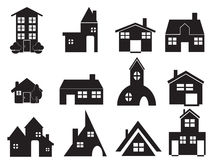 Set of house icons Stock Photography