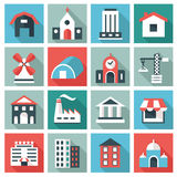 Set of house icons Stock Photos