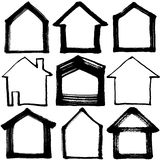 Set of house icons. Stock Images